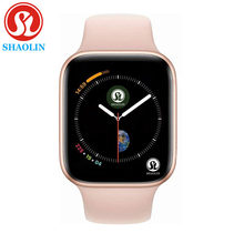 ROSE GOLD Smart Horloge Serie 4 Sport Smartwatch Klok voor apple iphone 6 6s 7 8 X plus voor samsung IOS Smart Horloge honor3 xiaomi(China)
