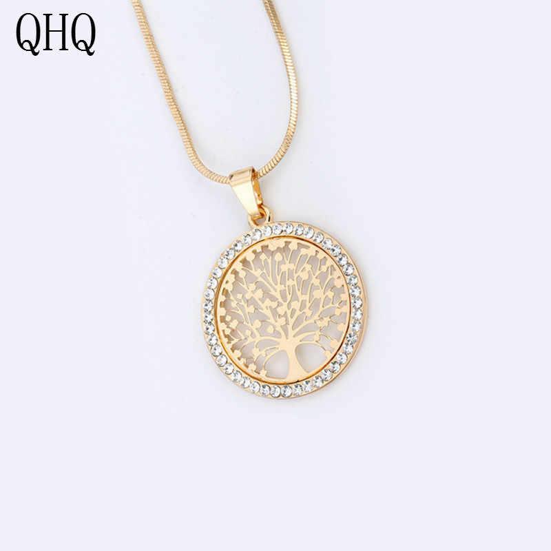 QHQ pendente della collana della catena chocker best friends neckless accessori moda femminile perla naturale dei monili di pietra regali
