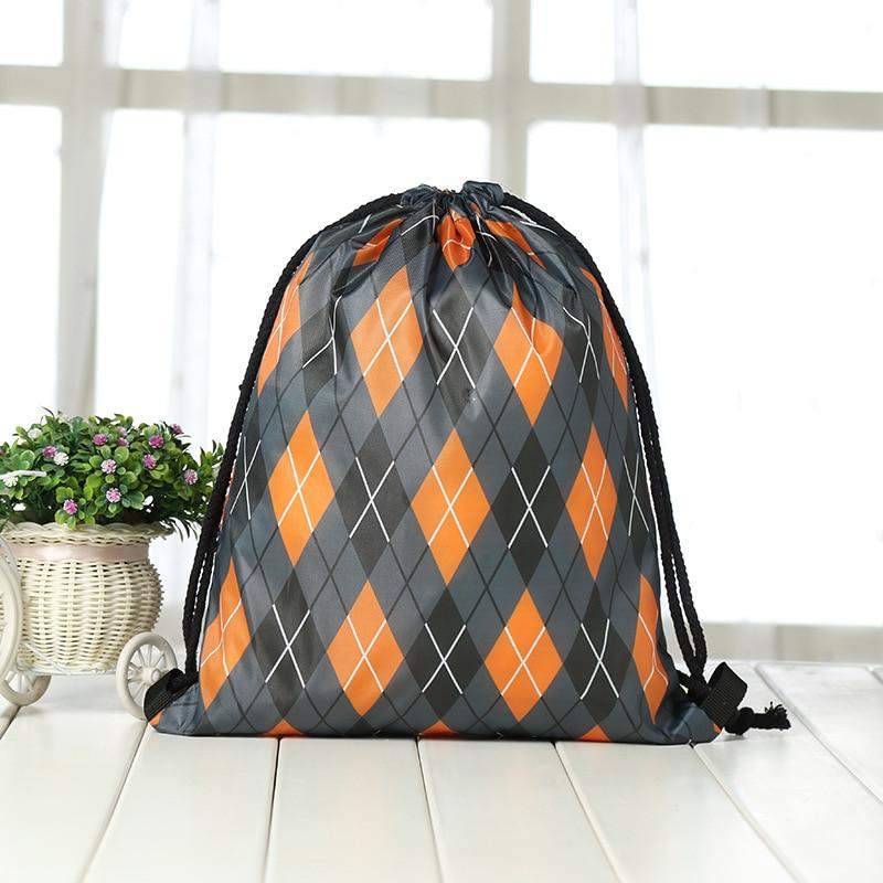Drawstring Backpack Fashion Women 3D Printing Travel Softback Men Casual Bags Unisex Women's Shoulder Drawstring Halloween Bag