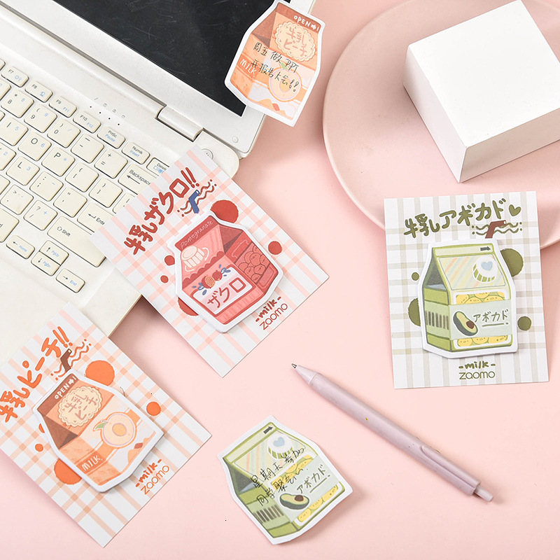 Creative Kawaii Memo Pad Cute DIY Decoration Sticky Note Student Writing Office Planner Notepad School Stationery Supplies 02172