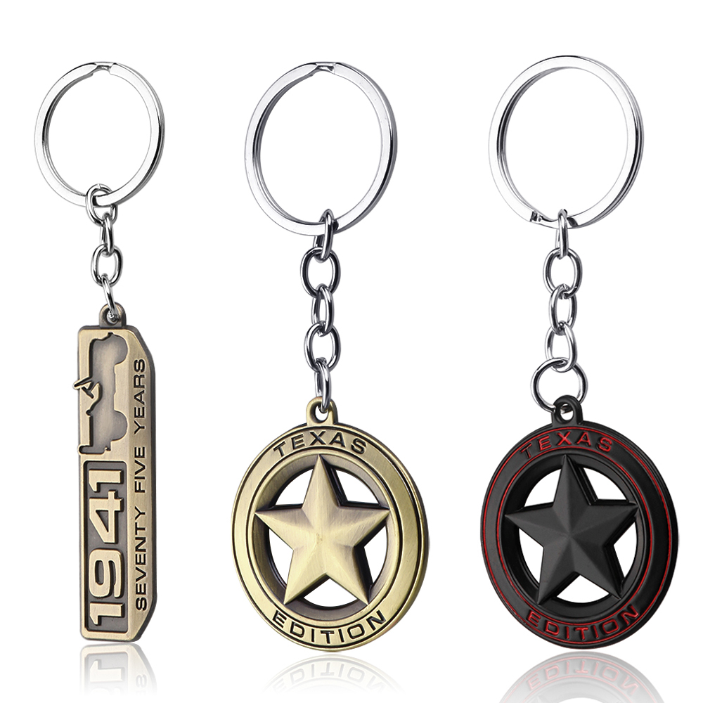 Fashion Ornaments 1941 Seventy Five Years emblem 3D Metal Key Chain Ring for Jeep Wrangler Renegade Grand Cherokee Car KeyChain