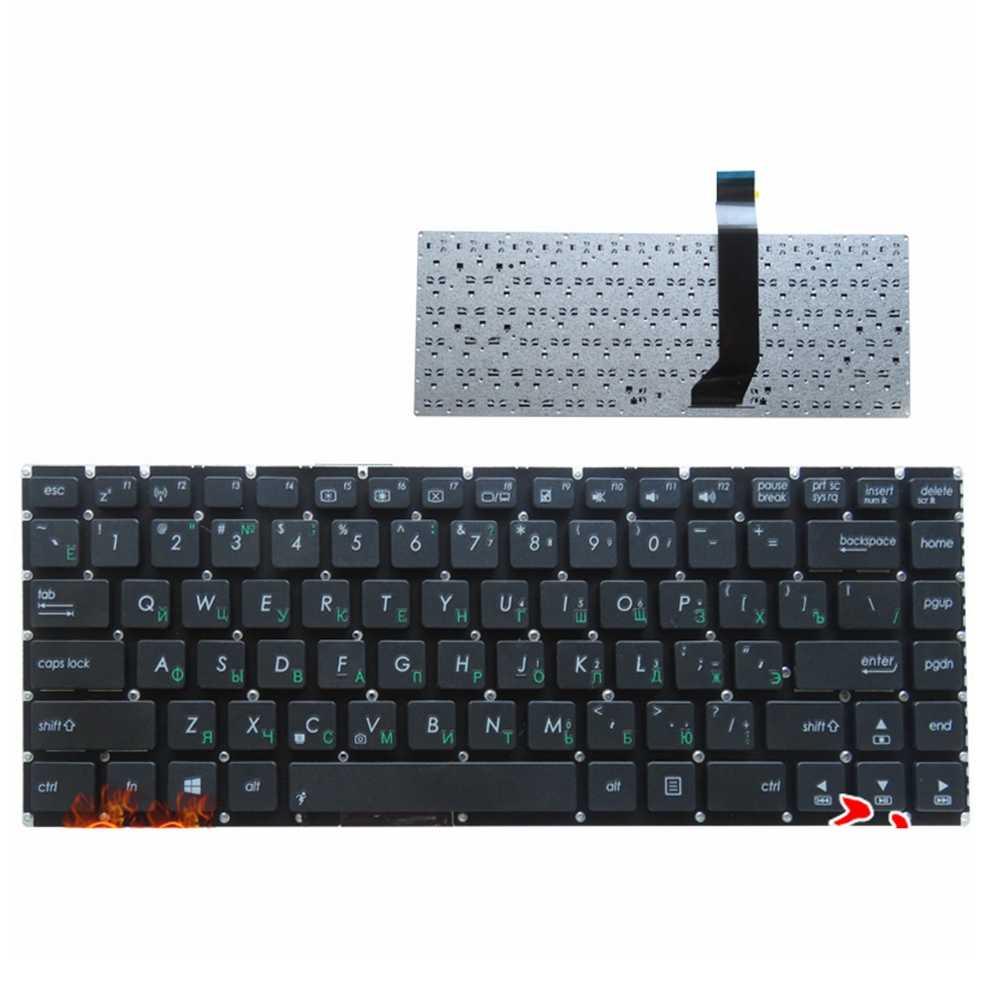 لوحة مفاتيح كمبيوتر محمول روسي جديد لـ ASUS K46 K46CA K46CB K46CM S46 S46C S46CB S46CM S46CA بدون إطار RU لوحة مفاتيح تخطيط