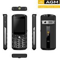 AGM M5 Qualcomm®MSM8909 4G Android basé 2.8 pouces QVGA avec écran tactile certifié IP68, clavier de Support robuste WhatsApp