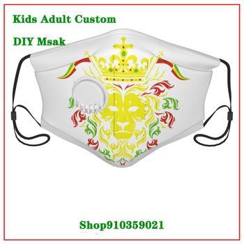 Rasta Lion Girl white valve mask New Coming Vintage DIY mascarilla mouthmask washable kids washable mask pm2.5