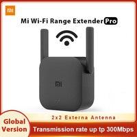 Xiaomi-Amplificador de enrutador WiFi Pro versión Global, repetidor expansor de red de 300M y 2,4G, extensor de potencia, Roteador de 2 antenas para el hogar