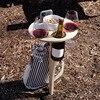 Outdoor wine rack