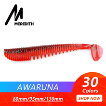 MEREDITH Awaruna Fishing Lures 8cm 9.5cm 13cm Artificial Baits Wobblers Soft Shad Carp Silicone Tackle