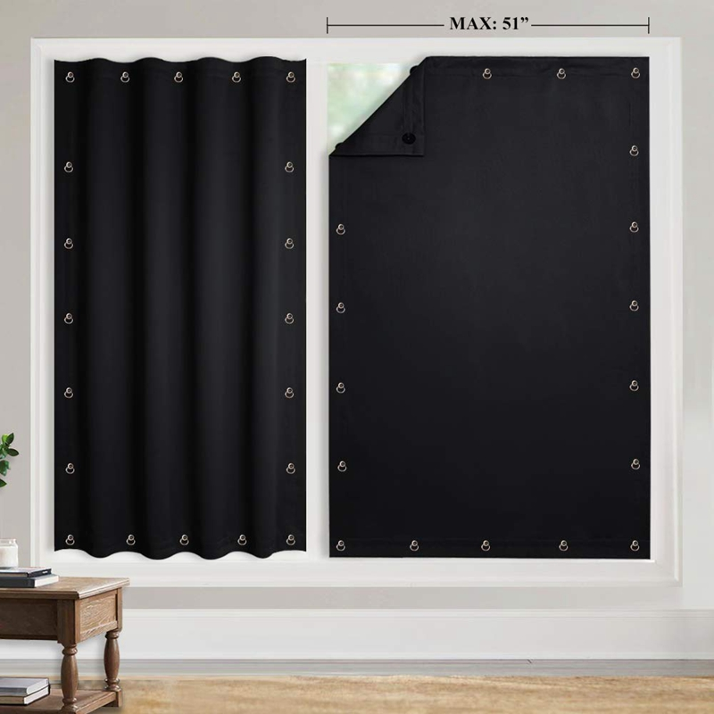 Временная Затемняющая штора для окон, регулируемая присоска, драпировка, портативная для гостиной, для дома для окна двери для балкона