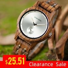 Часы BOBOBIRD с хронографом VQ18, стильные деревянные кварцевые наручные часы, лучший подарок в коробке