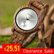 프로모션 BOBOBIRD 시계 세련된 나무 크로노 그래프 시계 나무 석영 손목 시계 상자에 최고의 선물 relogio masculino VQ18