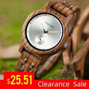 Image 1 - Promosyon BOBOBIRD İzle şık ahşap Chronograph saatler ahşap kuvars kol saati en iyi hediye kutusu relogio masculino VQ18
