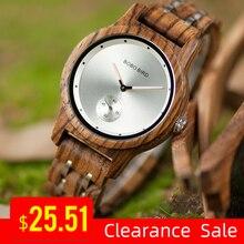 Promotie Bobobird Horloge Stijlvolle Houten Chronograaf Uurwerken Hout Quartz Horloge Best Gift In Doos Relogio Masculino VQ18