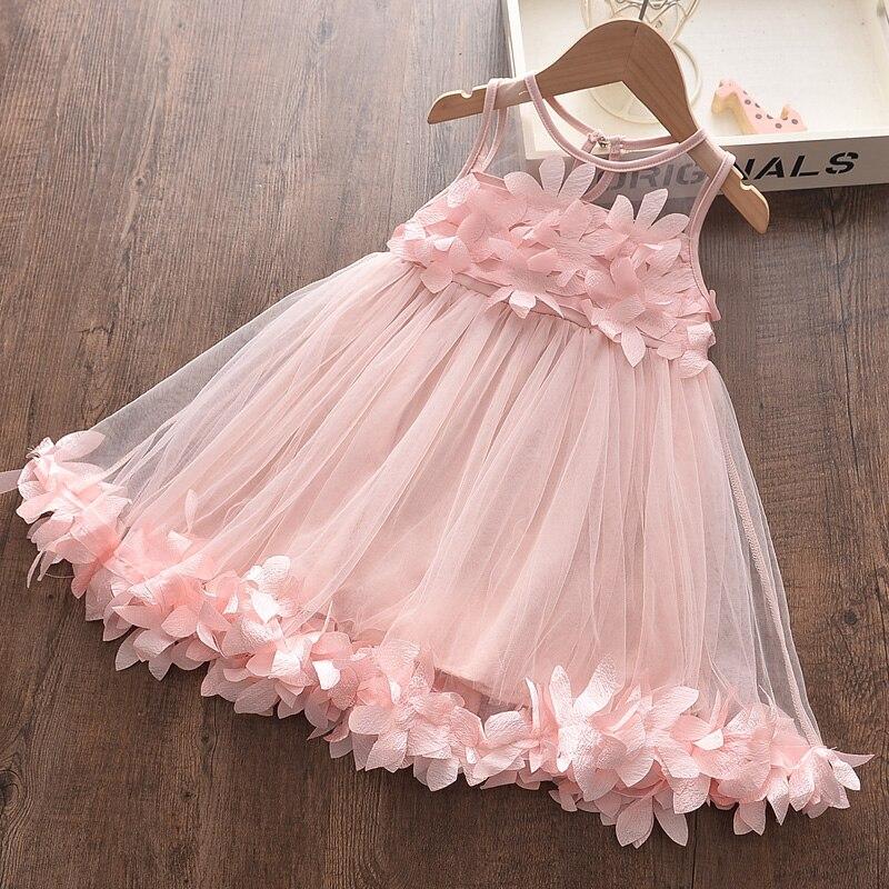 Melario Girls Dresses New Sweet Princess Dress Baby Kids Girls Clothing Wedding Party Dresses Children Clothing Pink Applique