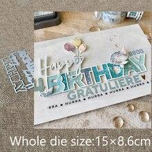 Новый дизайн, металлический трафарет, пресс-формы, украшение на день рождения, скрапбукинг, высечки, альбом, бумажная карта, тиснение