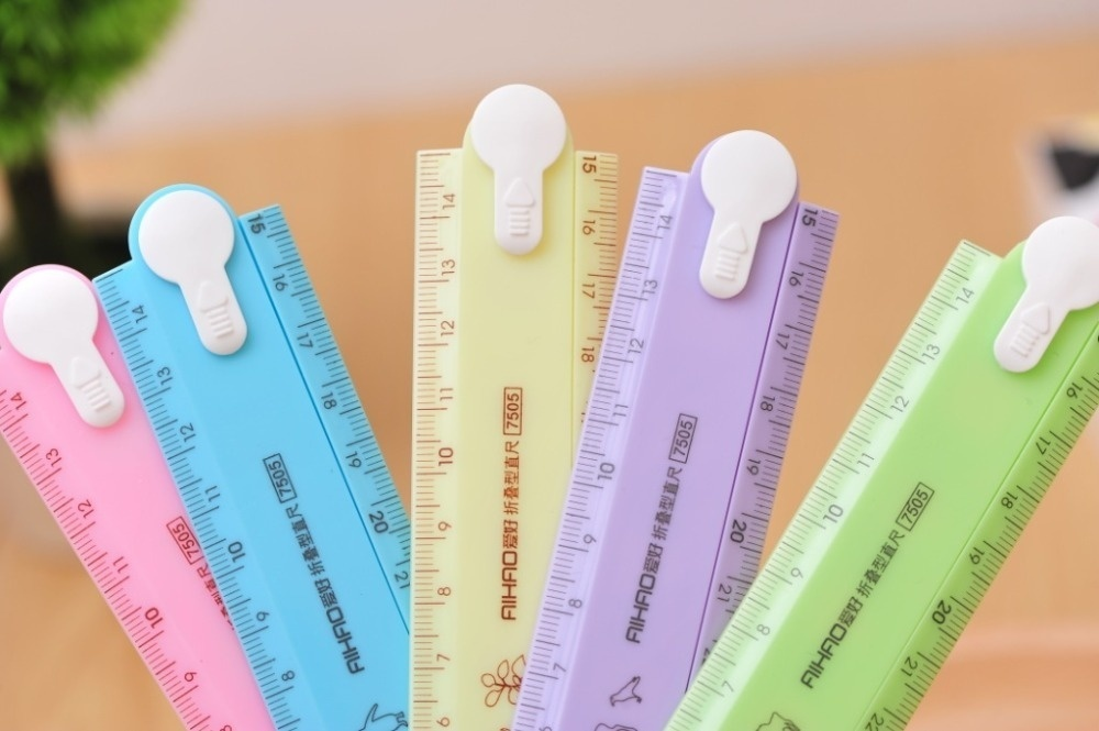 30cm Cute Kawaii Candy Folding Plastic Ruler For Kids Student Creative Product Gift Office School Supplie   GK99