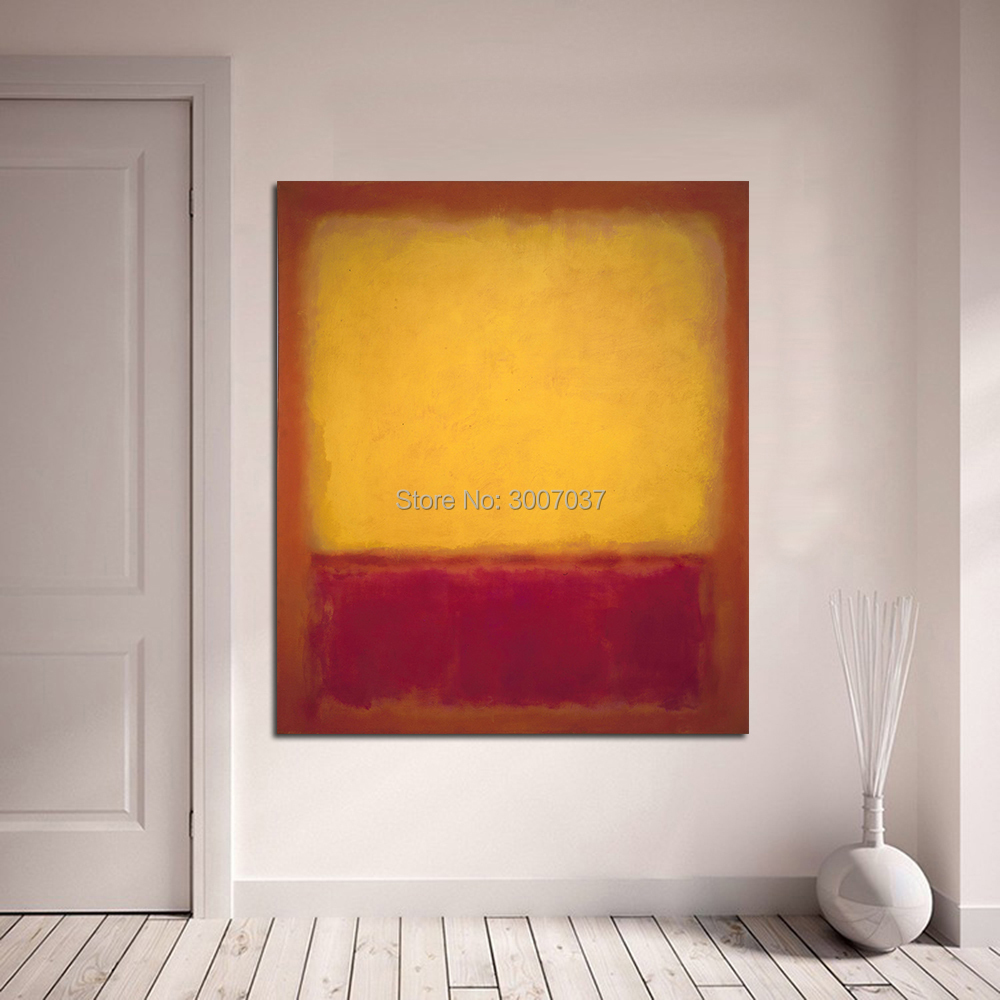 Mark Rothko Classical Oil Painting Wall Art Picture Home Decor Canvas Painting Living Room Modern No Frame in Painting Calligraphy from Home Garden