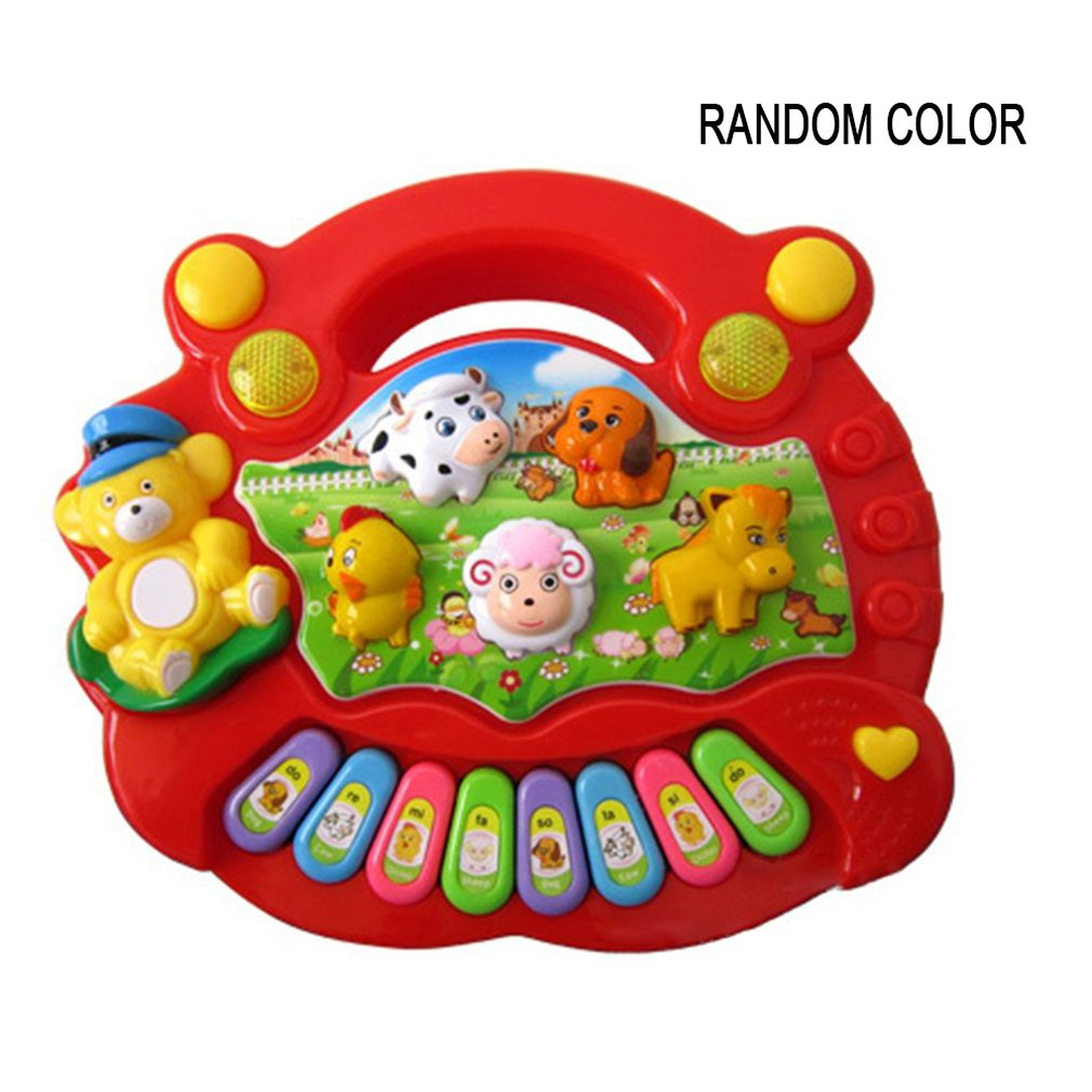 Musical Instrument Toy Baby Kids Animal Farm Piano Sound Toy Developmental Music Educational Keyboard Toys For Children Gift
