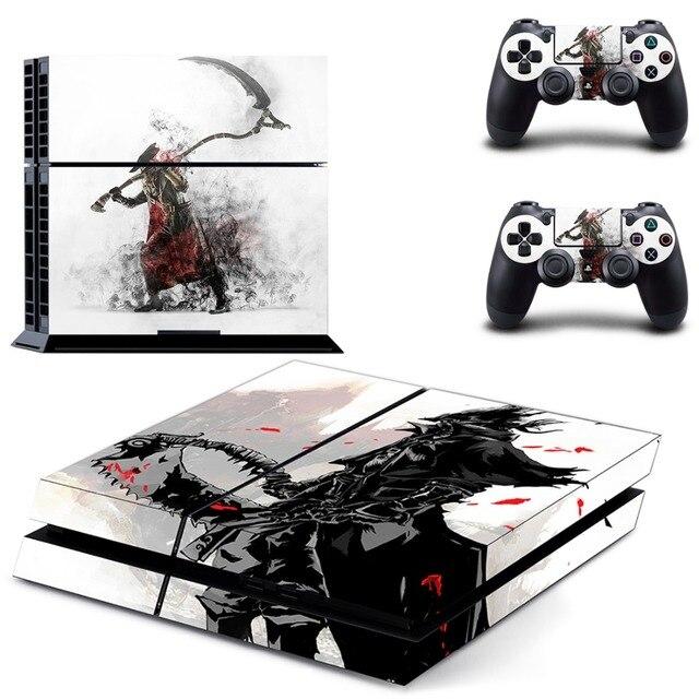Pegatinas de PS4 de Bloodborne para PlayStation 4, pegatinas de vinilo de piel para PS4 y mando