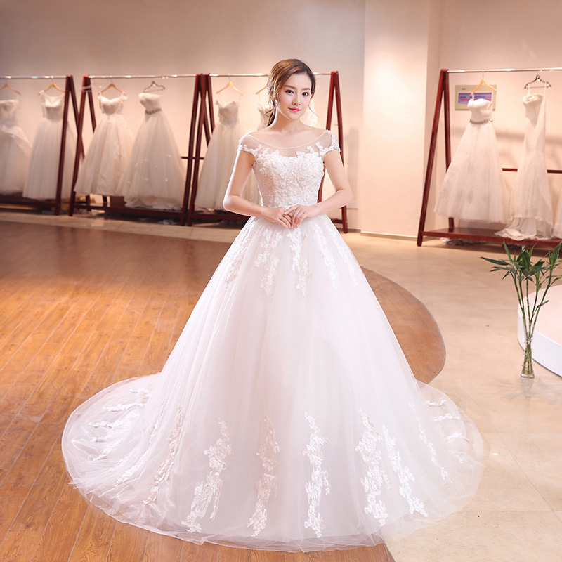 2020 Vestido Cocktail Fleabane Bitter Skirt Long Tail Wedding Dress, Cultivate Morality Show Thin Han Edition Can Be Customized