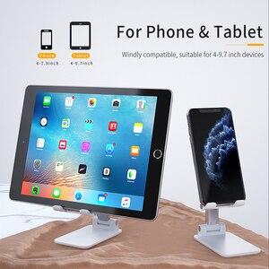 Image 4 - Essager Universal Adjustable Mobile Phone Holder Non Slip Mobile Phone Holder Desktop Metal Tablet Stand For iPhone iPad Xiaomi
