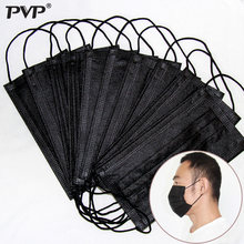 50/10/5Pcs Mouth Mask Disposable Black Cotton Mouth Face Masks Non Woven Mask 3 Filter In Stock Dust proof for Men Women Fashion