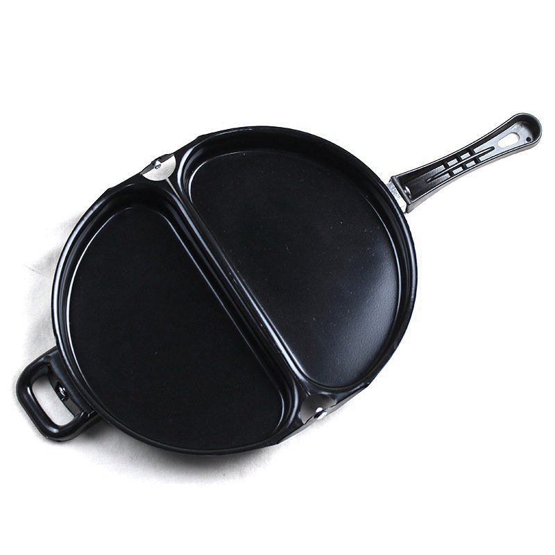 Fashion-Non Stick Coated Omelet Pan Double Side Folding Pan Kitchen Breakfast Skillet Frying Pan Skillet Omelette Maker Cooking