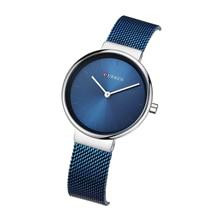 CURREN Women Watch Simplicity Modern Quartz Wrist Blue Stainless Steel Waterproof Elegant Reloj Mujer Valentines Day Gift