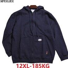 Большой размер 10XL 11XL 12XL зимняя мужская флисовая толстовка с капюшоном теплая на молнии 8XL толстовки Большие размеры спортивное пальто 150 кг 160 кг 170 кг 64