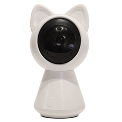 RISE-Nice And Cute Look Wireless Smart Home Security 1080P 2Mp Mini Cat Baby Monitor(Eu Plug)
