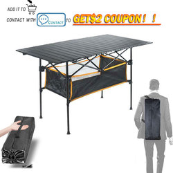 Outdoor Folding Table Chair   Camping Aluminium Alloy Picnic Table Waterproof Durable Folding Table Desk For 95*55*68cm