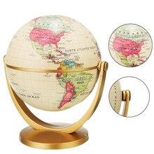 Образовательное украшение для дома и школы, 12 см, Ретро стиль, глобус, вращающаяся на 360 градусов, карта океана, мир Земли, шар, античный, Настольный