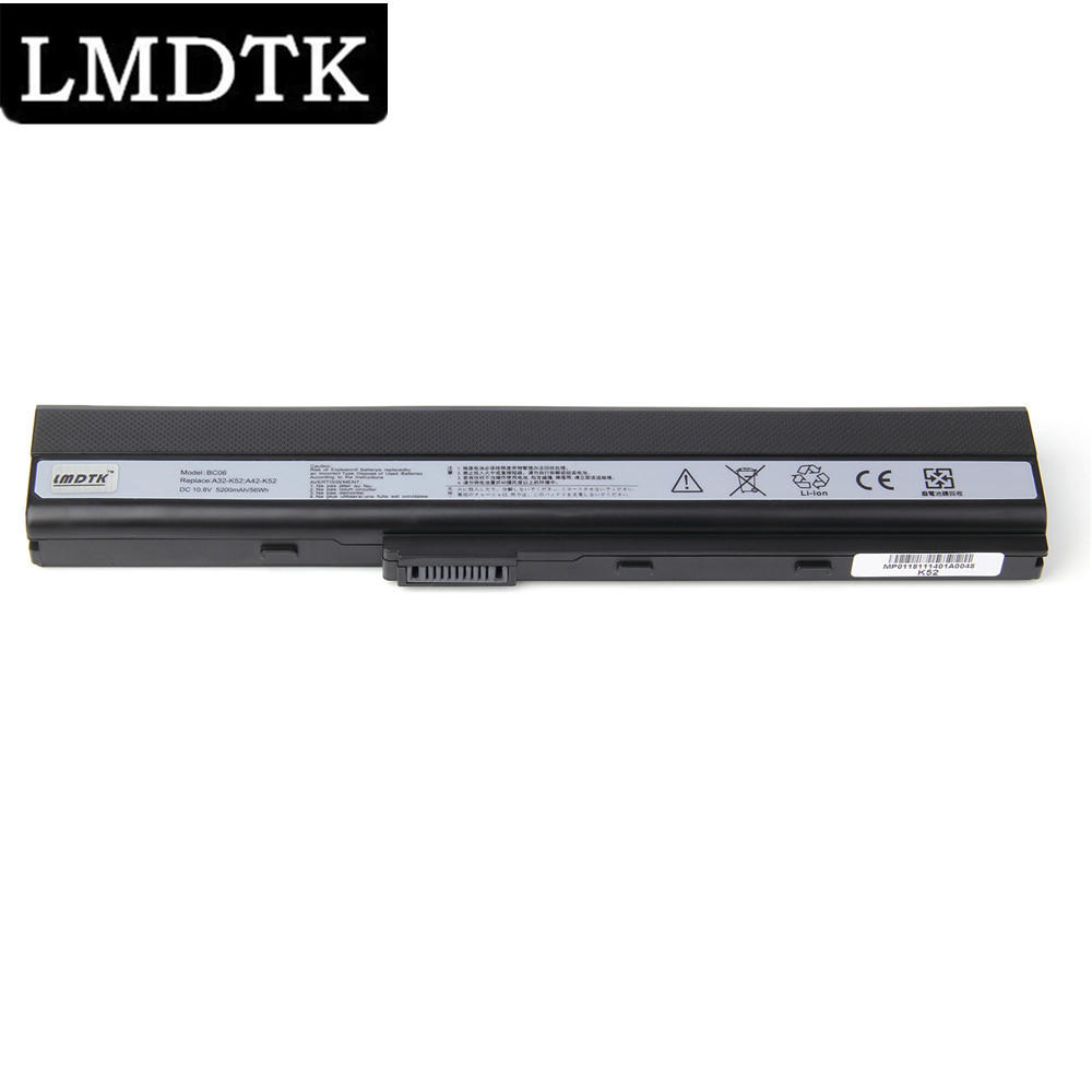 LMDTK New laptop battery For Asus A52 A52F A52J A52JB A52JK K42 K52 K52JB K52JK K52Jr A31-K52 A32-K52 A41-K52 A42-K52 6 cells image