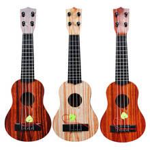 Детская гитара укулеле музыкальный инструмент игрушка мини четырехструнная