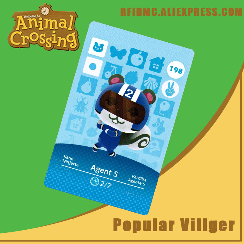 198 Agent S Animal Crossing Card Amiibo For New Horizons