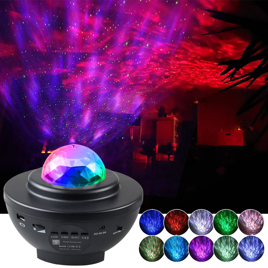Projection Lamp Music-Player Night-Light Gifts Romantic Starry Sky Colorful Blueteeth