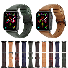 цена на Genuine Leather band for correa Apple watch 40mm 44mm iwatch series 4 3 2 1 42mm 38mm bracelet clock Watchband wrist Strap