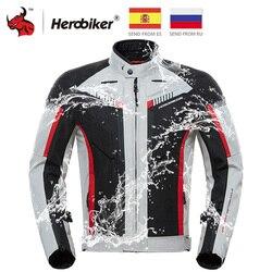 HEROBIKER primavera otoño chaqueta de la motocicleta impermeable a prueba de viento chaqueta de montar de carreras de Moto ropa de protección