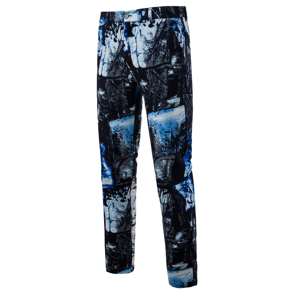 Man Printing Nation Wind Western-style Trousers K56