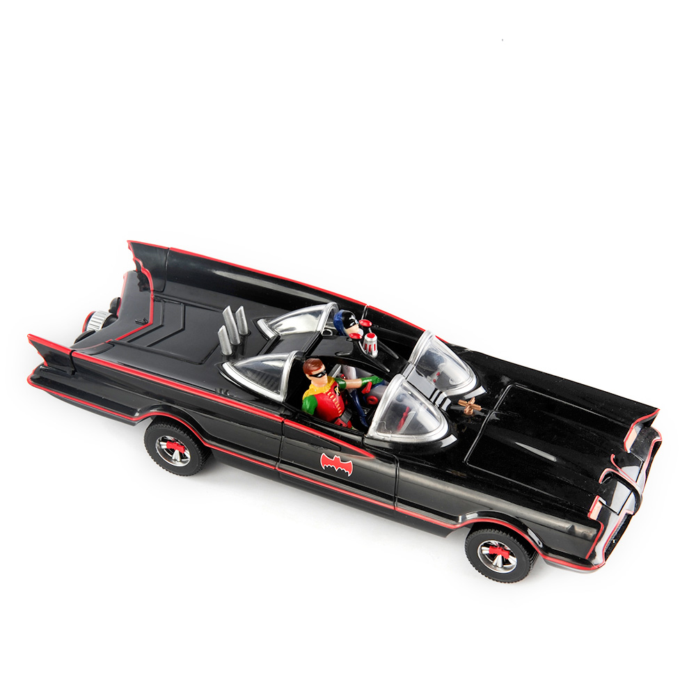 1//24 Plastic Batman Batmobile Model Lincoln Futura 1966 Static Car Vehicle Toy