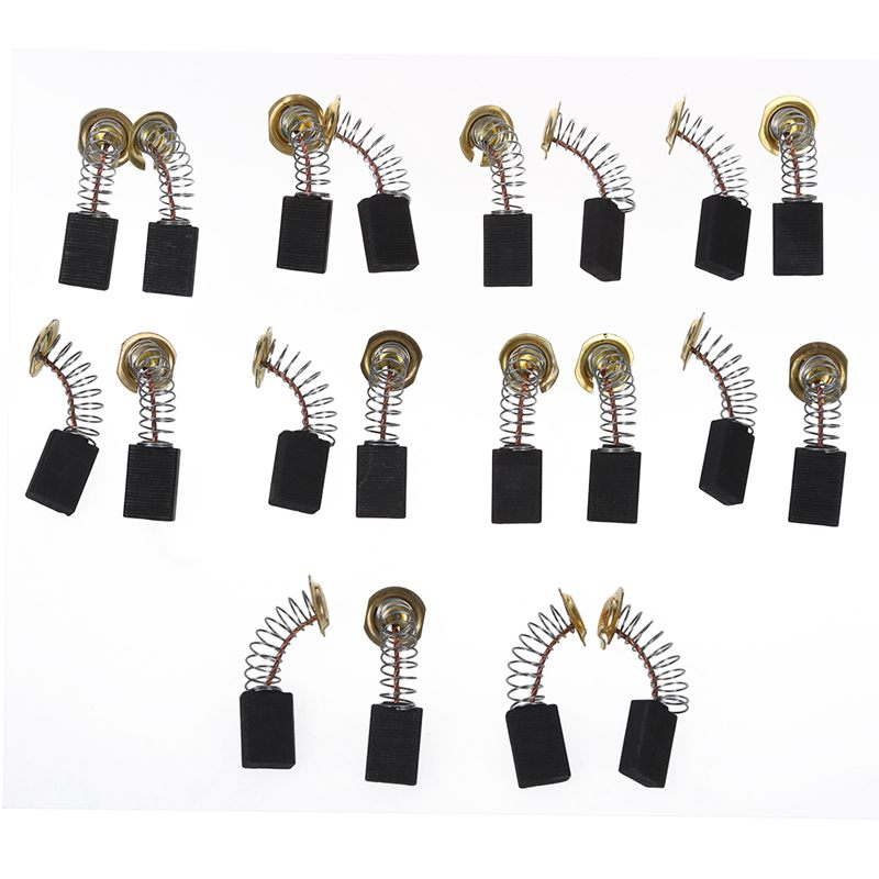 uxcell 20 Pcs 16mmx11mmx5mm Electric Drill Motor Carbon Brushes CB303