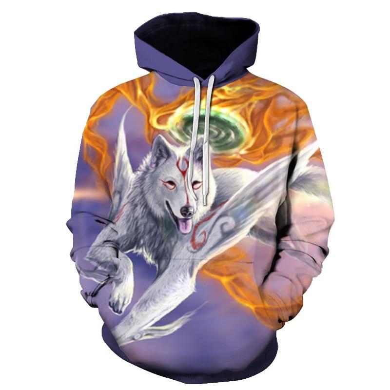 Wolf Printed Women 3d Hoodies Brand Sweatshirts Girl Boy Jackets Pullover Fashion Tracksuits Animal Streetwear Lovers Sweatshirt 85