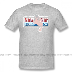 Image 3 - Forrest Gump T Shirt Bubba Gump T Shirt Print 4xl Tee Shirt Awesome Classic 100 Cotton Short Sleeves Men Tshirt
