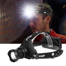 XHP P90.2 LED far USB şarj edilebilir yakınlaştırma balıkçılık far el feneri avcılık kafa ışık kamp el feneri