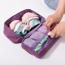 Novo portátil viagem saco de armazenamento roupa interior organizador de cosméticos pano roupa interior saco de higiene pessoal organizador mala de maquiagem organizador