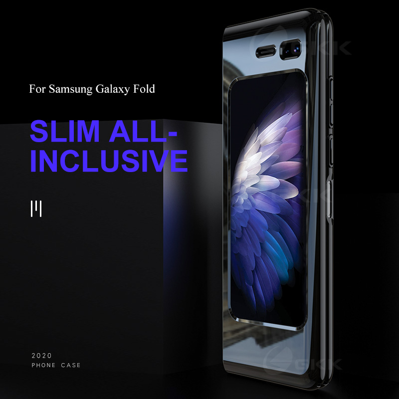 GKK Luxury UV Baking Varnish Hard Case For Samsung Galaxy Fold Case 360 Full Protection Anti-knock Case For Samsung Fold Cover
