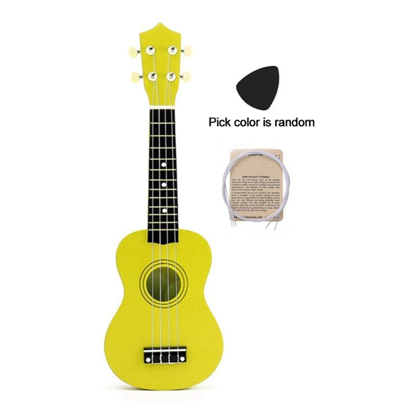 Colorful 21 inches Soprano Ukulele Basswood Nylon 4 Strings Ukulele Bag Acoustic Mini Hawaiian Guitar Bass Guitarra for Beginner