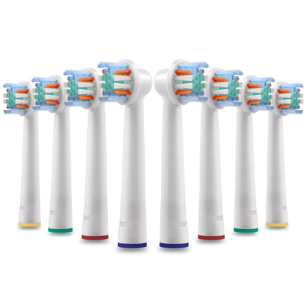 8Pcs Replacement Toothbrush Heads for Oral b Vitality Floss Action Electric Toothbrush-Head for Braun PrecisionClean kids&Adults image