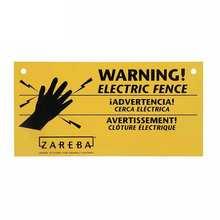 Kreatywny 13cm X 6.6cm dla Zareba Electric Fence znak ostrzegawczy osobowość naklejki samochodowe odporne na zarysowania naklejki przedniej szyby