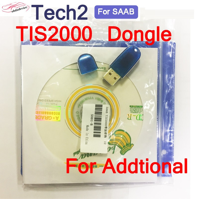 2020 New TIS2000 CD And USB KEY For G-M TECH2 For SAAB G-M Cars Model More Function TIS 2000 Software USB Dongle For Tech2 Add