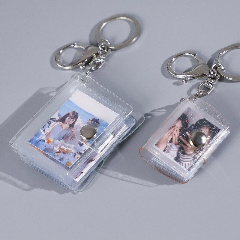 16 мини альбоме маленького размера брелок 1 2 дюйма ID мгновенное фото интерстициальной карта памяти брелок для ключей Книга Lover время памяти п...